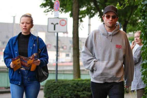 Mia Goth and Robert Pattinson Stills Out in Cologne Photos