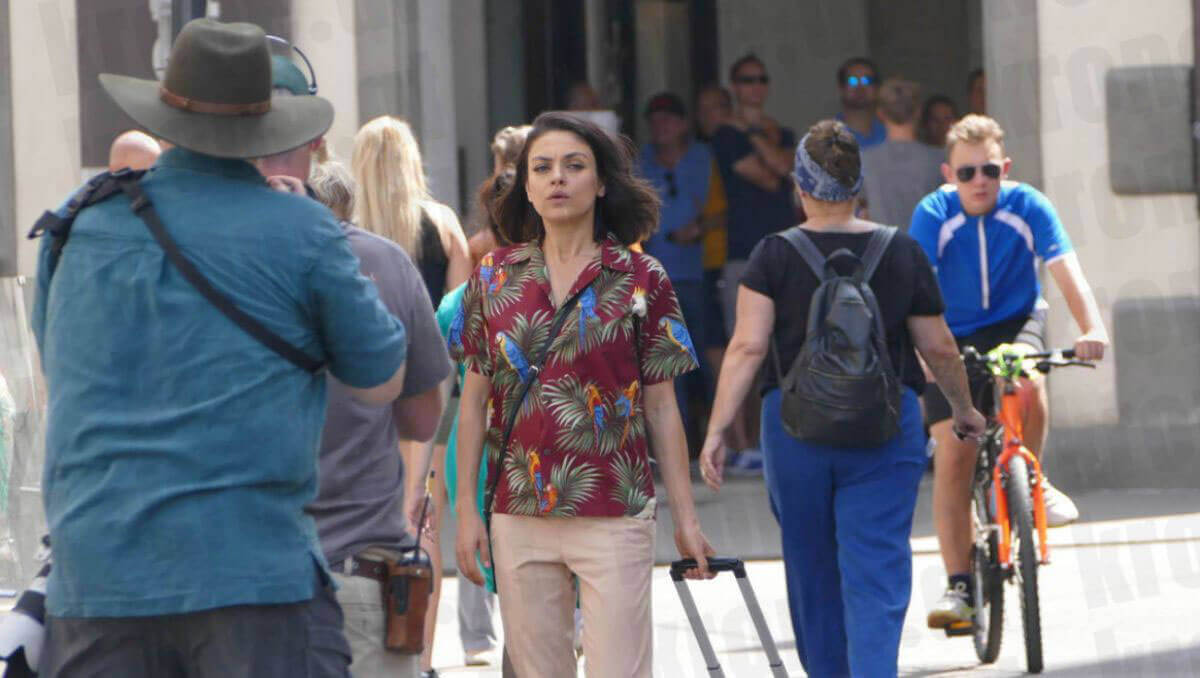 Mila Kunis Stills on the Set of The Spy Who Dumped Me in Vienna