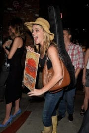 Missi Pyle Stills Heading to a Gig in Hollywood