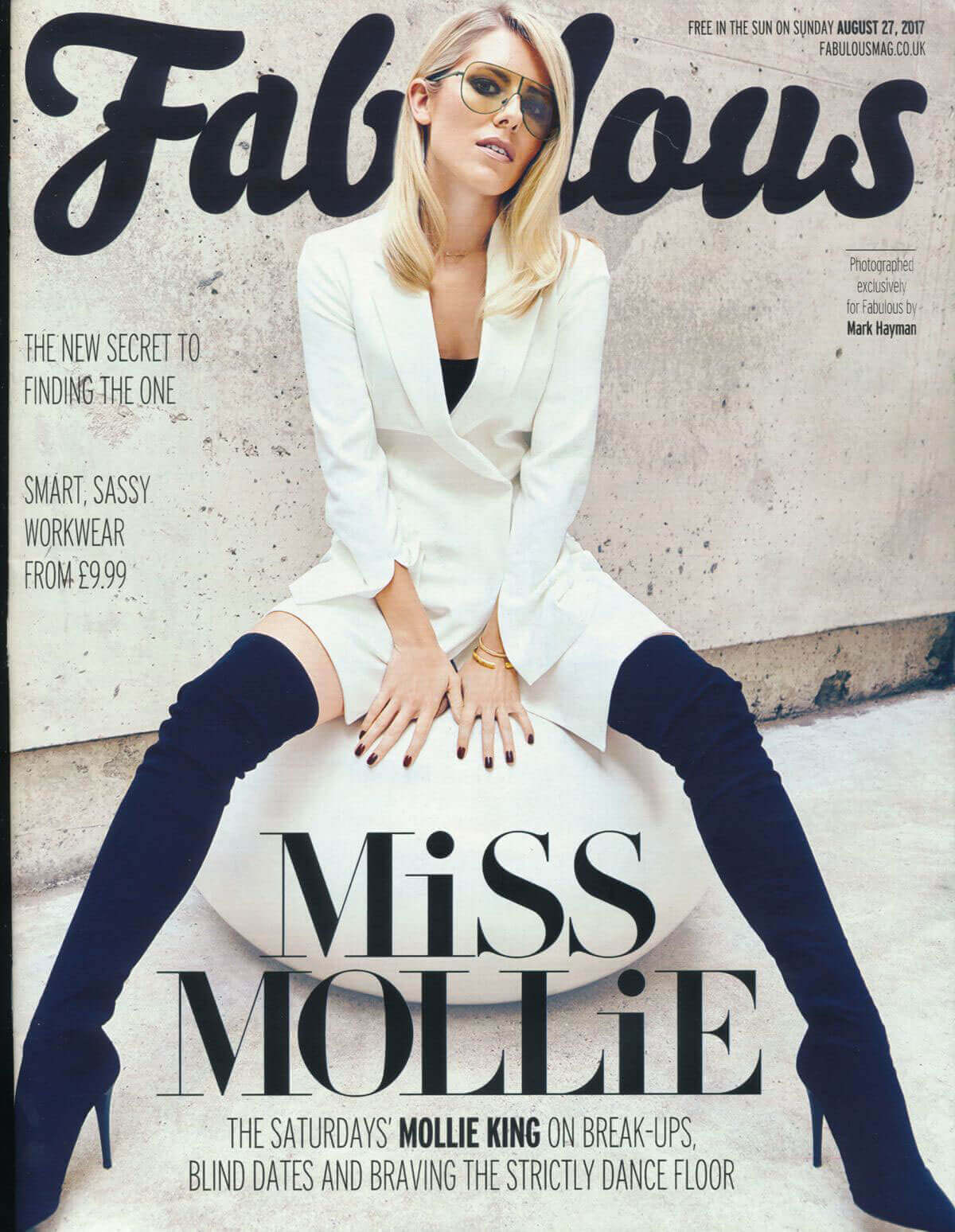 Mollie King Photos in Fabulous Magazine, August 2017