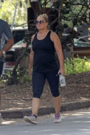 Nicole Eggert Stills Out Hiking at Fryman Canyon in Los Angeles