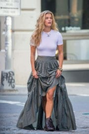 Nina Agdal Stills on the Set of a Photoshoot in New York