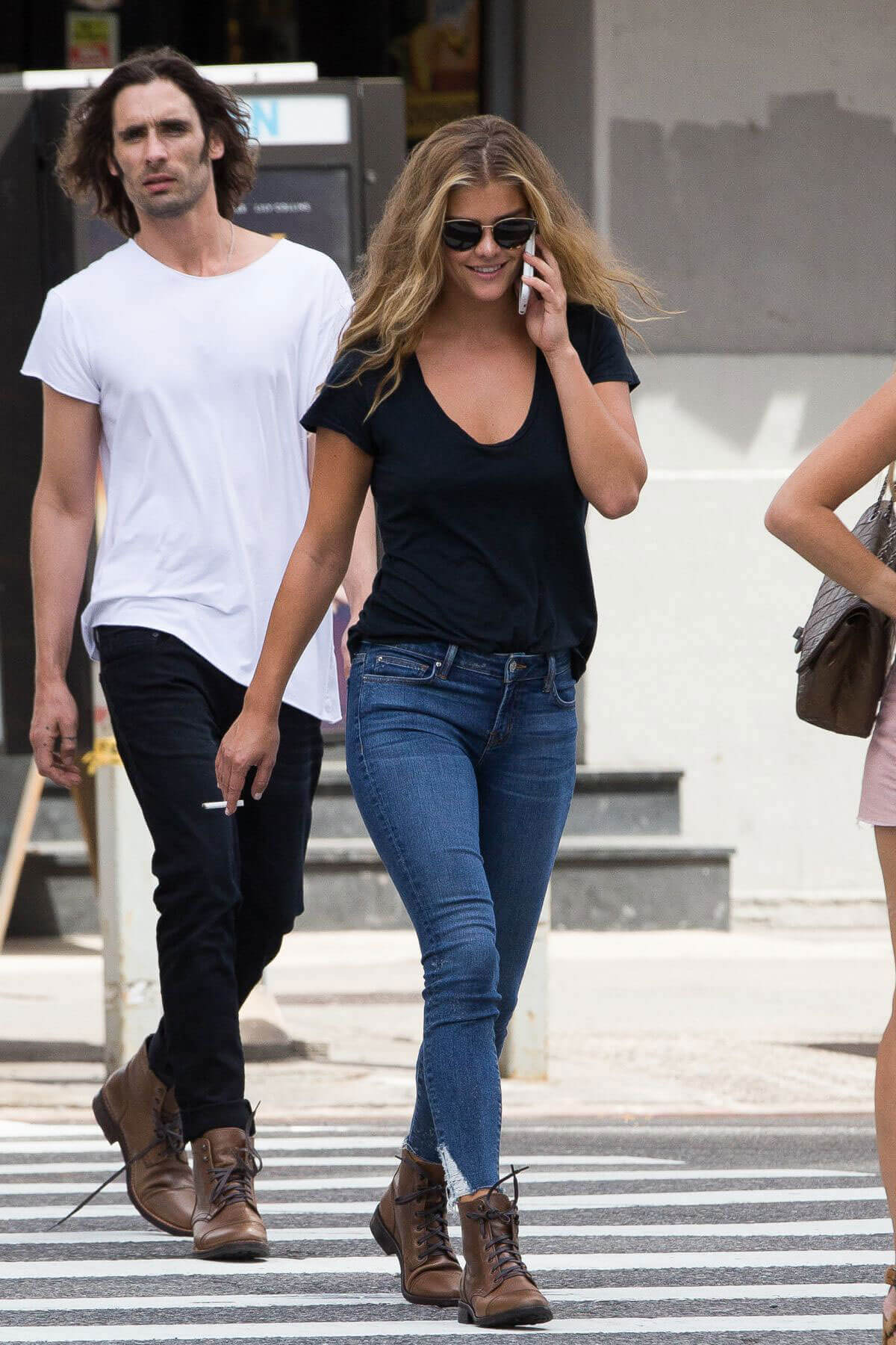 Nina Agdal Stills Out for Lunch at Cipriani in New York