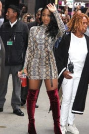 """Normani Kordei Stills at Leaving """"Good Morning America"""" in NYC's Times Square"""