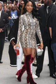"""Normani Kordei Stills at Leaving """"Good Morning America"""" in Times Square"""