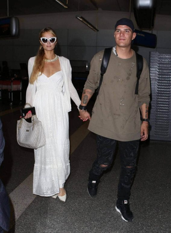 Paris Hilton and Chris Zlyka Stills at LAX Airport in Los Angeles