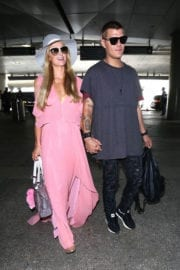 Paris Hilton and Her Boyfriend Chris Zylka Hold Hands at LAX Airport in Los Angeles