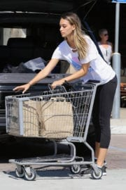 Pregnant April Love Geary Stills Out for Grocery Shopping in Malibu