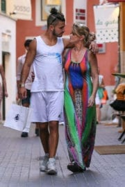 Pregnant Danniella Westbrook and Alan Thomason Stills Out in Palma De Mallorca