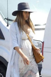 Pregnant Jessica Alba shows baby bump out in Los Angeles
