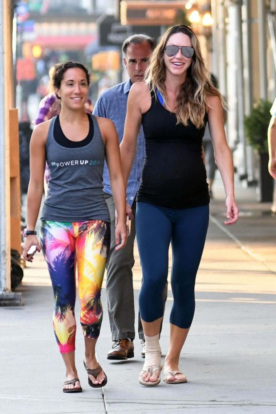 Pregnant Lara Trump Stills Out Jogging in Central Park in New York