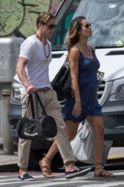 Pregnant Viviane Thibes and Cameron Douglas Stills Out in New York Photos