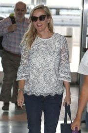Reese Witherspoon Stills at JFK Airport in New York Photos