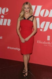 Reese Witherspoon wears Red Dress at Home Again Premiere in Los Angeles