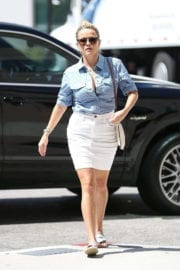 Reese Witherspoon wears Short Formal Skirts for a Doctor's Appointment in Westwood