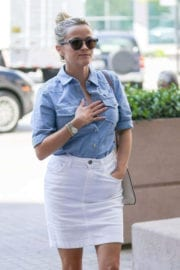 Reese Witherspoon wears Shorts Formal Skirts for a Doctor's Appointment in Westwood