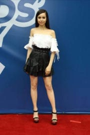 Sofia Carson Stills at Arthur Ashe Kids Day at US Open in New York