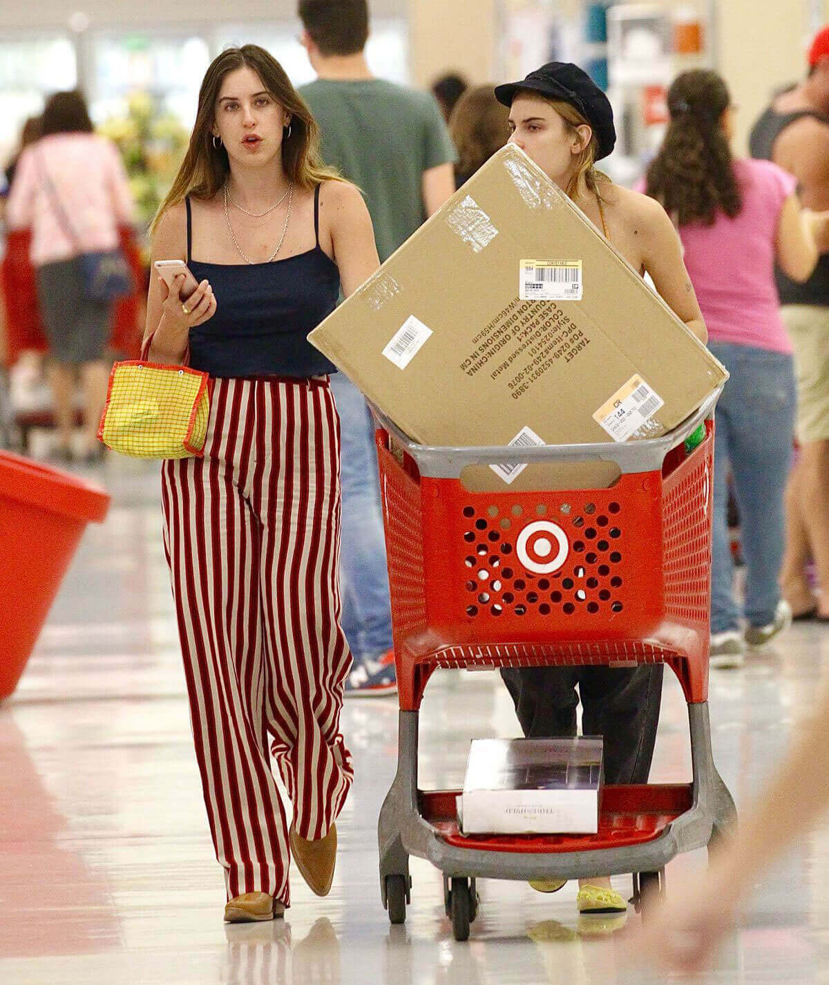 Tallulah and Scout LaRue Willis Shopping Stills at Target in West Hollywood