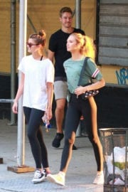 Taylor Marie Hill and Romee Strijd Stills at a Gym in New York