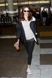Troian Bellisario Stills at LAX Airport in Los Angeles