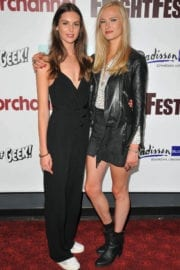 Vanessa Grasse and Jessica Madsen Stills at Leatherface Premiere in London
