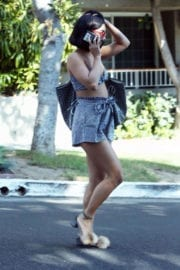 Vanessa Hudgens displays legs in Short Skirts Out and About in West Hollywood