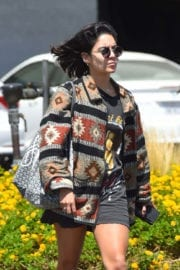 Vanessa Hudgens shows off legs Out in Hollywood