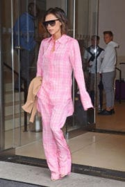 Victoria Beckham wears Pajama Suits Leaves Her Hotel in New York