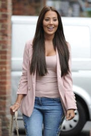 Yazmin Oukhellou Stills at She Films Scenes for Towie in Essex