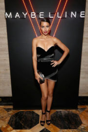 Adriana Lima in Black Dress at Maybelline Mansion Presented by V in New York