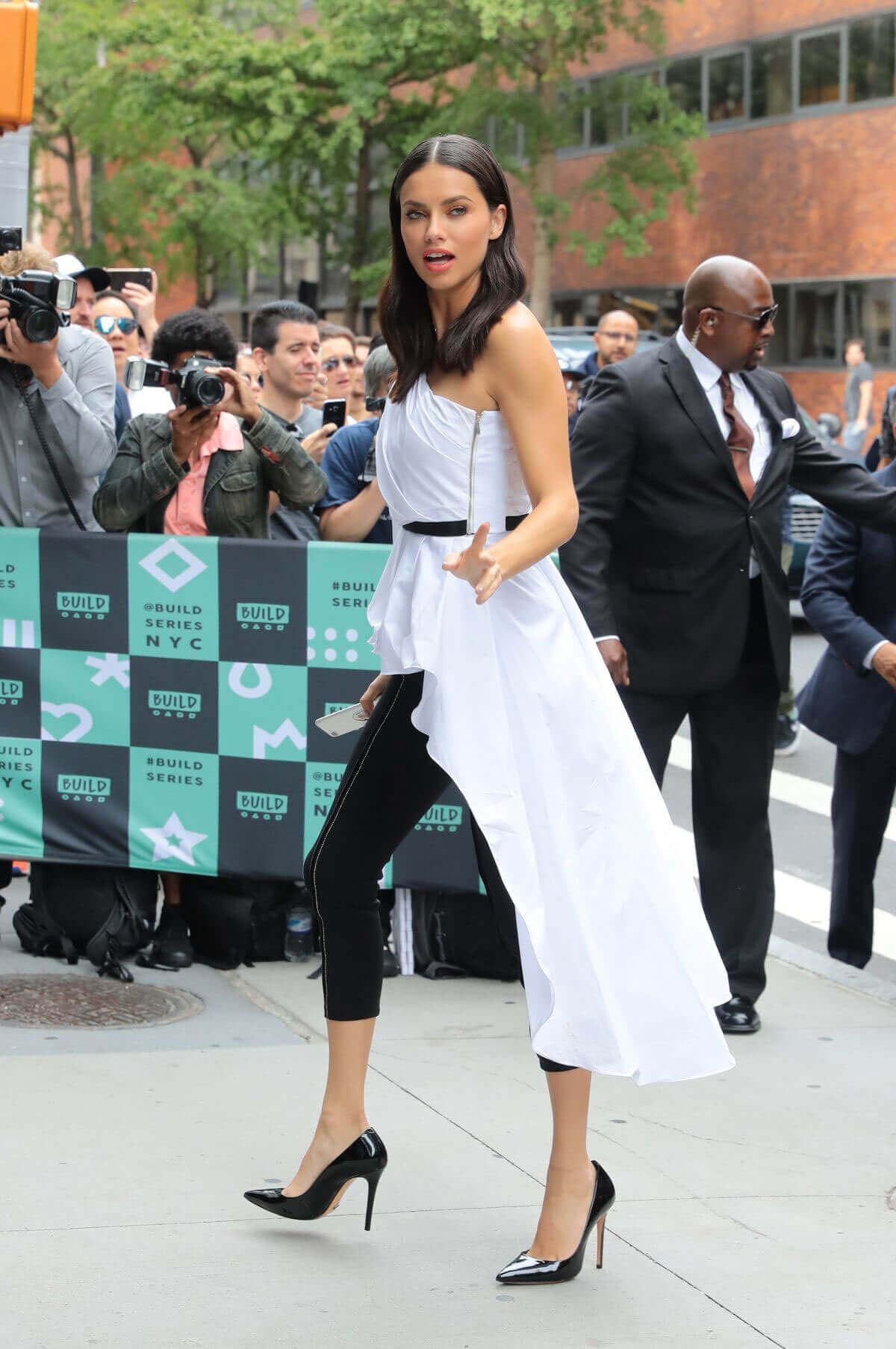 Adriana Lima Stills Arrives at AOL Build Series in New York