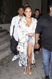 Adrienne Bailon and Israel Houghton at Catch LA in West Hollywood