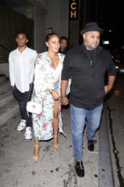 Adrienne Bailon and Israel Houghton Stills at Catch LA in West Hollywood