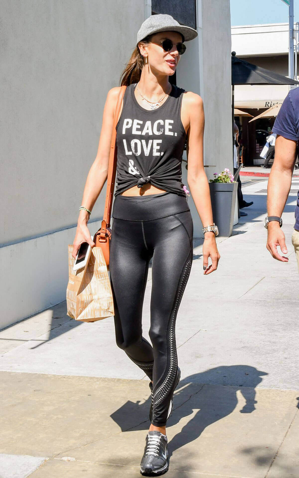 Alessandra Ambrosio wears Fittings Out and About in Los Angeles