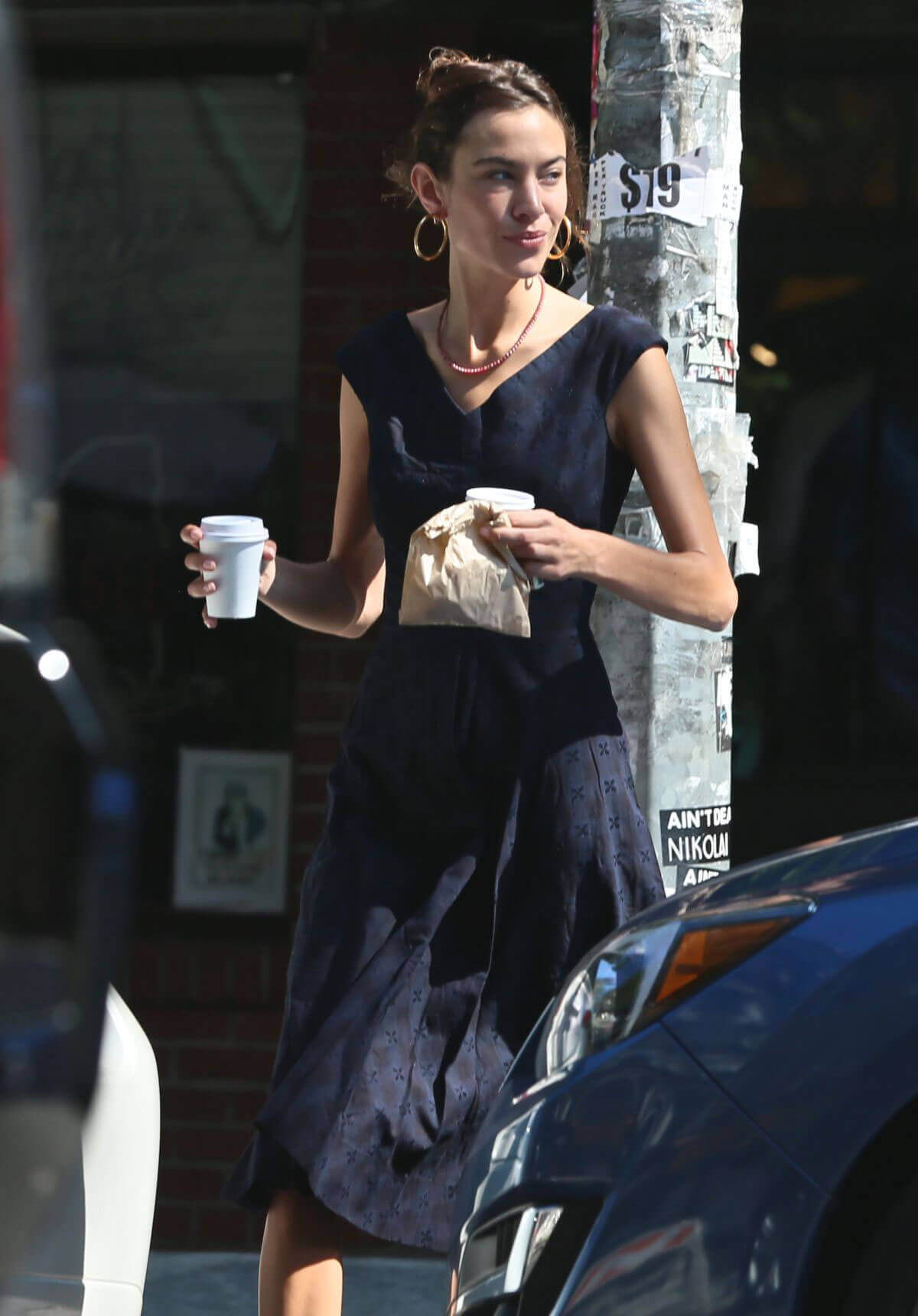Alexa Chung Stills Out for Coffee in New York