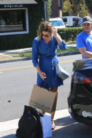 Ali Larter Shows off Legs in Blue Out Shopping in Los Angeles