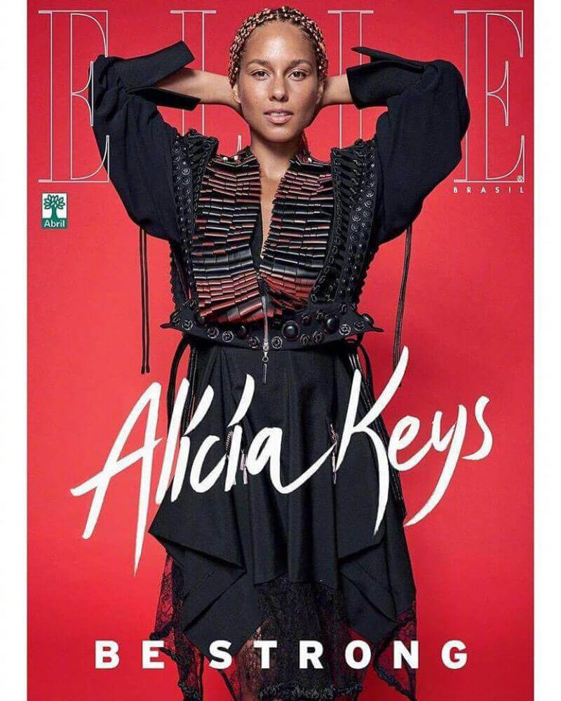 Alicia Keys Poses for Elle Magazine, Brazil September 2017