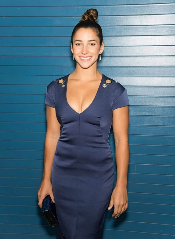Aly Raisman at Pamella Roland Show in New York Fashion Week