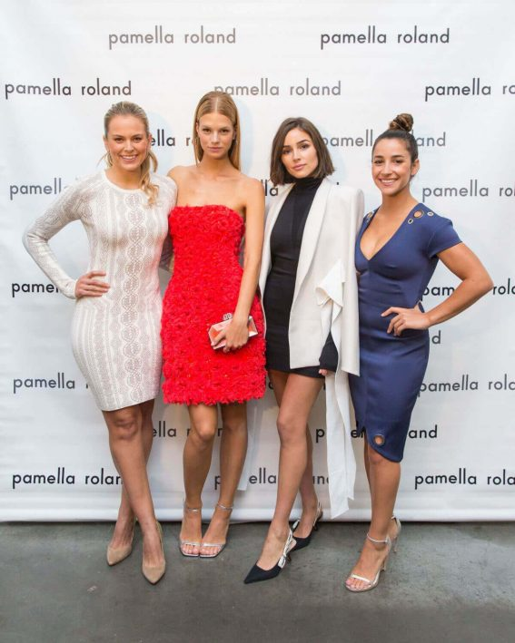 Aly Raisman Stills at Pamella Roland Fashion Show at New York Fashion Week
