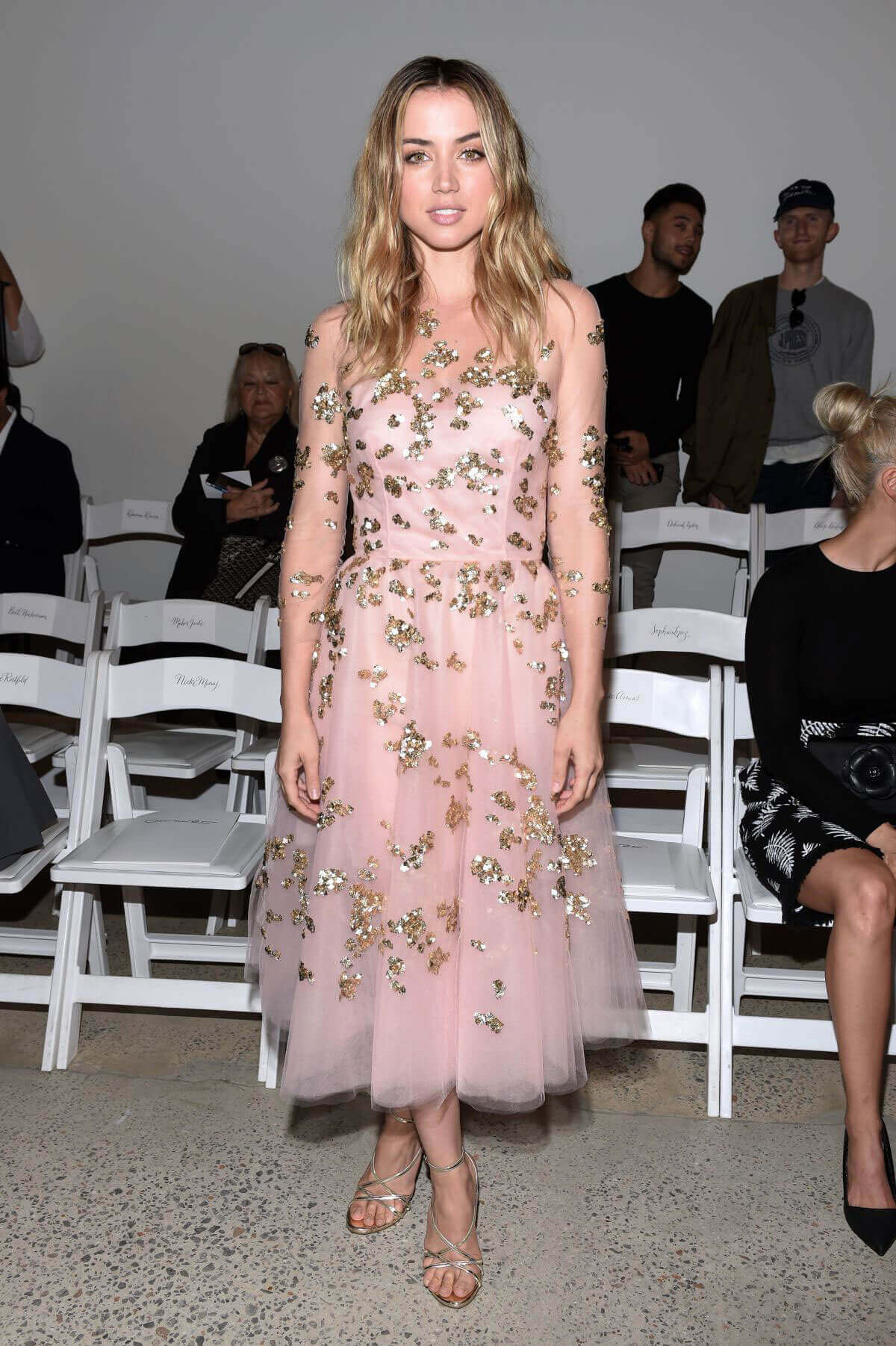Ana de Armas at Oscar De La Renta Fashion Show at NYFW in New York