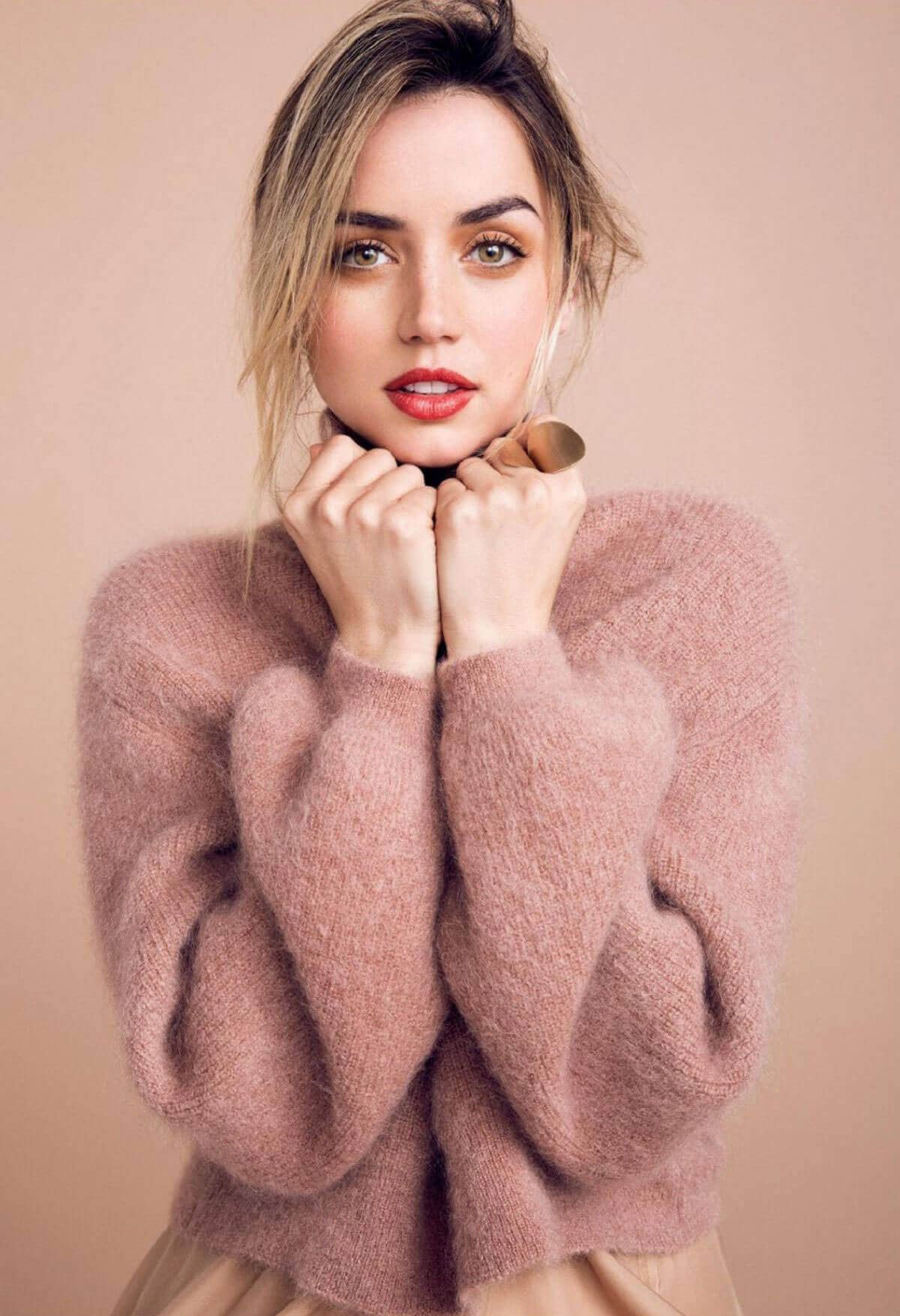Ana de Armas Poses for Vogue Magazine, Russia October 2017