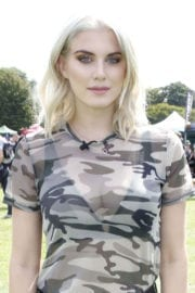 Ashley James wears ripped jeans at pupaid 2017 in London