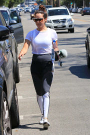 Ashley Tisdale wears Tights Leaves a Gym in Studio City