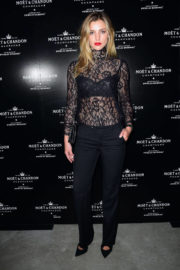 Astrid Baarsma at Moet & Chandon by Public School Launch Celebration at New York Fashion Week