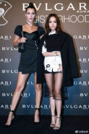 "Bella Hadid with Jolin Tsai at ""Bvlgari"" Sisterhood Launch in Beijing"