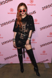 Bella Thorne Flaunts Her Panty Sheer Dress at a Fashion Show at New York Fashion Week