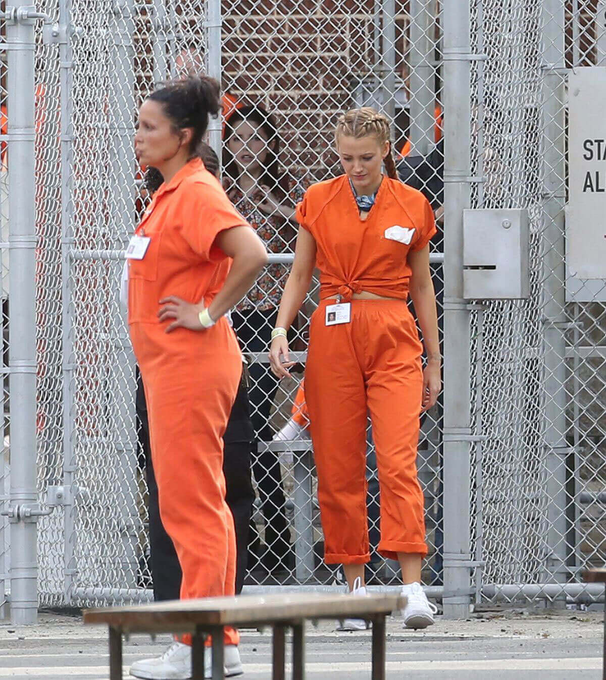 Blake Lively And Anna Kendrick Stills On The Set Of A