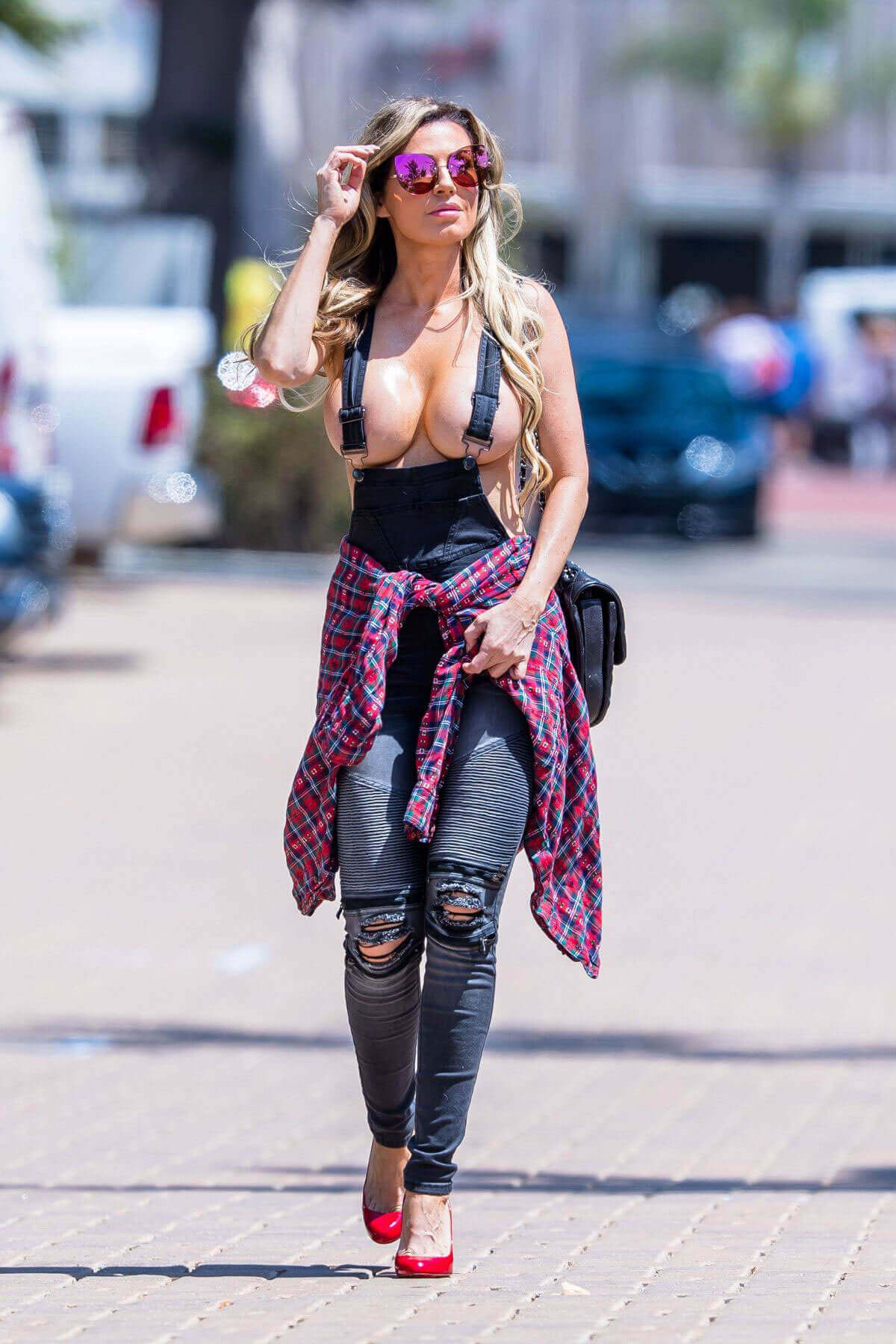Braless Ana Braga Stills Out and About in Malibu
