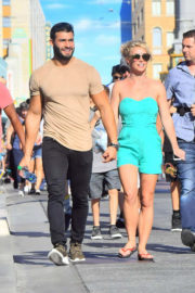 Britney Spears and Sam Asghari Stills Out at Disneyland