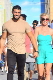Britney Spears and Sam Asghari Stills Out at Disneyland in California